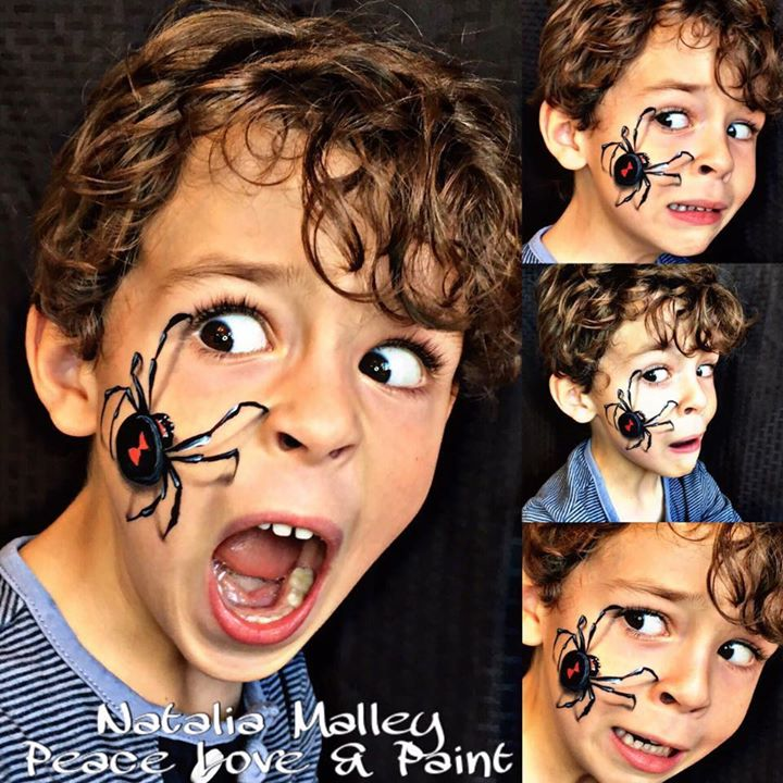 Realistic Spider Face Paint