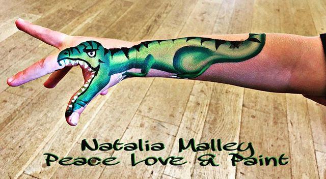 Dinosaur Arm Painting