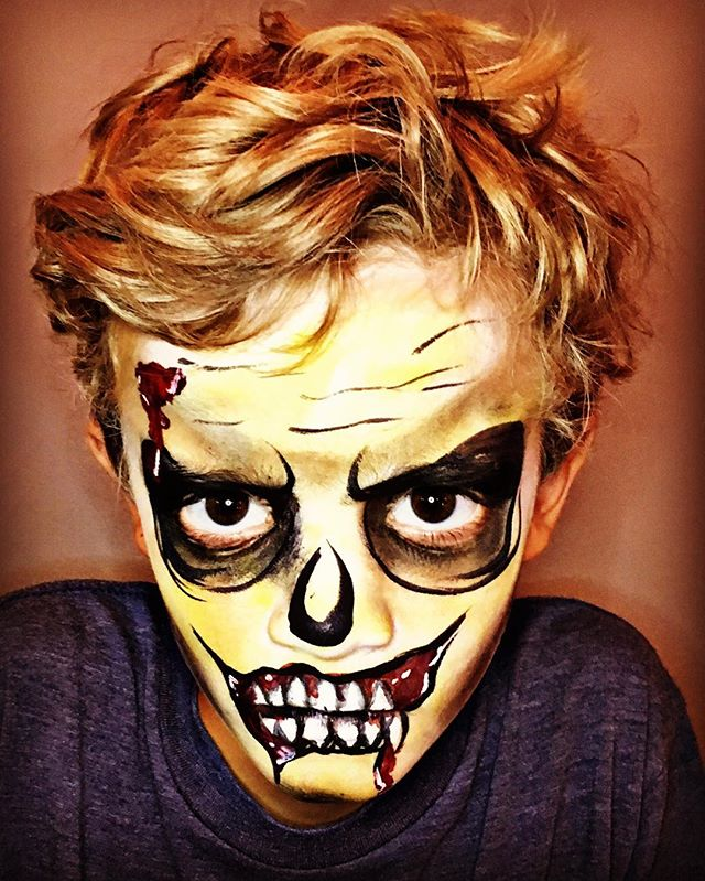 Zombie Boy Face Painting
