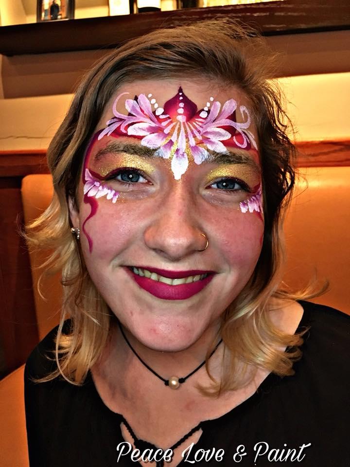 Flower Princess Face Paint