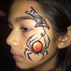 Spider cheek art