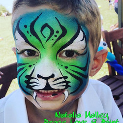 Green Tiger Face Paint