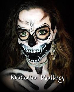 skull makeup face painter