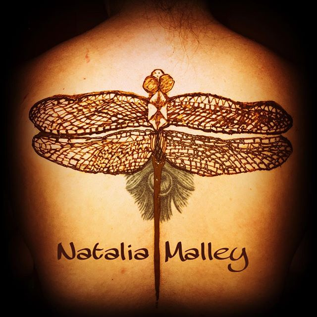 Dragonfly Henna Tattoo Body Art