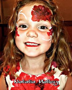 Red Flowers Match her dress