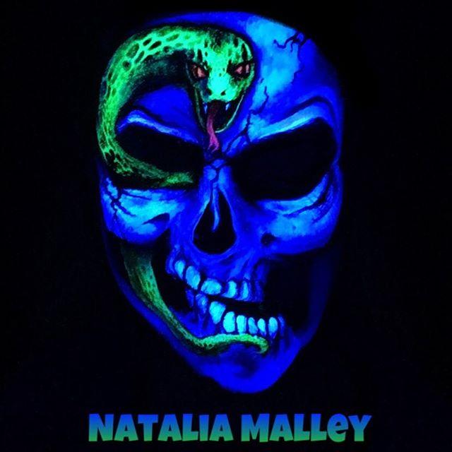 My #uv #skull with #snake #darkmark usin