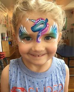 Unicorn Face Painting