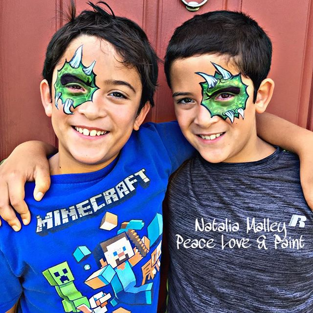 Twin Monster Eye Face Painting