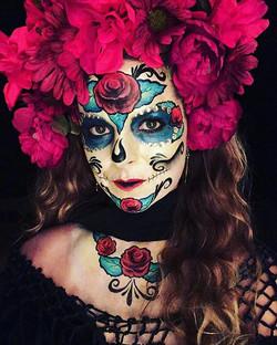 sugar skull face art
