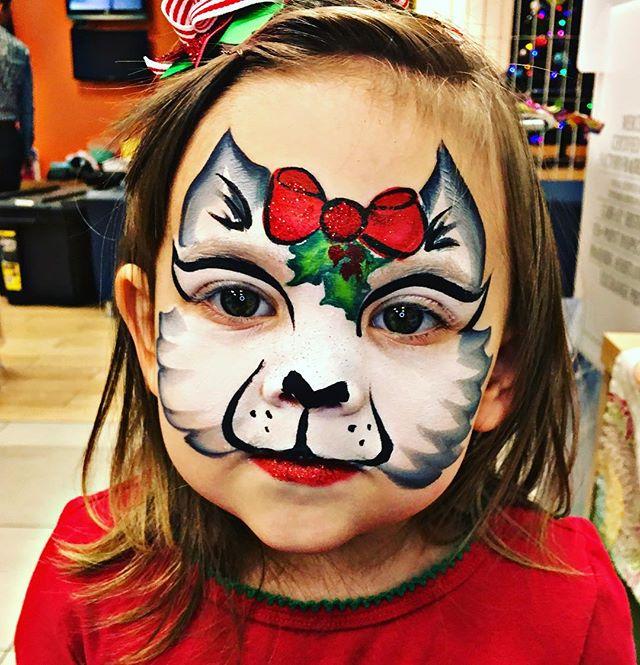 Christmas Kitty Face Paint
