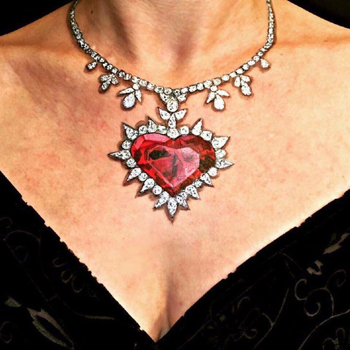 Valentine's Day Body Art Décolletage