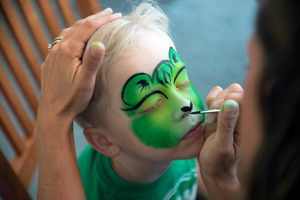 Green Tiger Cub Face Painting