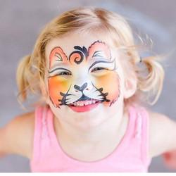 Cute Lion Cub Face Paint