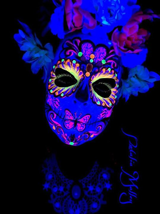 UV Blacklight Sugar Skull