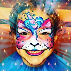 Unicorn Kitty Face Paint