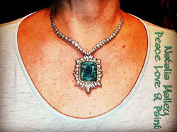 Diamond Encrusted Emerald