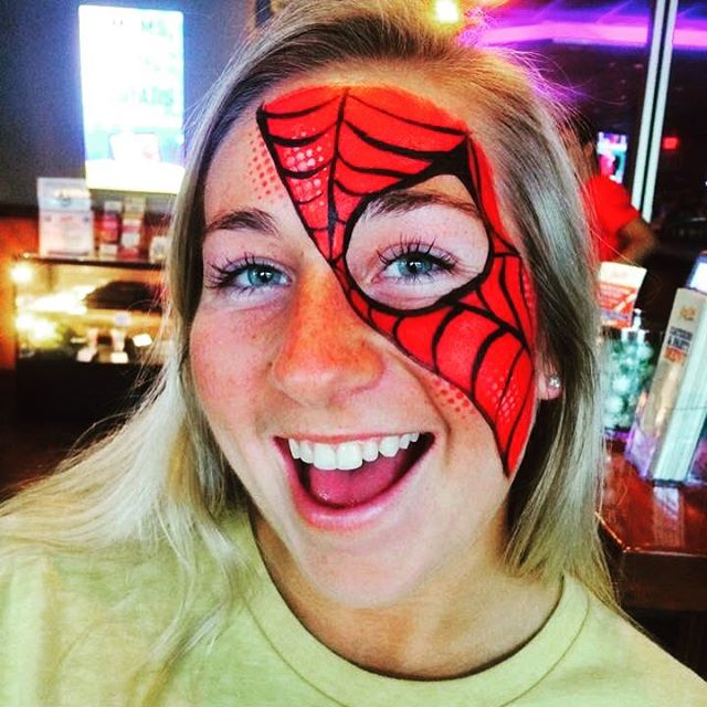 Spidey Face Painting