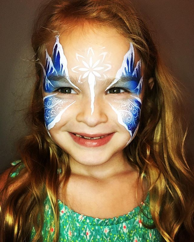 Frozen Winter Butterfly Face Paint