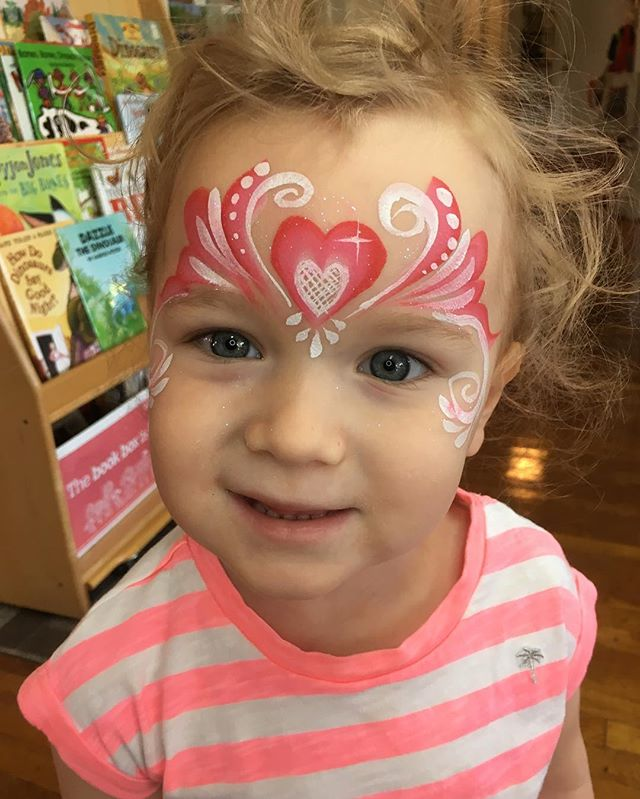 Lace Heart Princess Face Painting