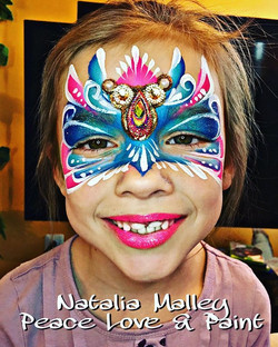 #pretty #princess #mask for this  sweetheart today! 💕💙💕💙💕💙 #peaceloveandpaint #facepaint #body