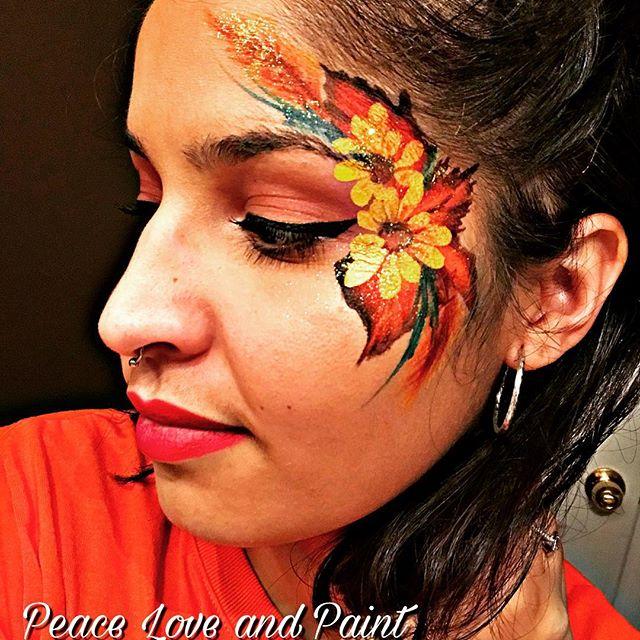 Fall Flower Eye Design