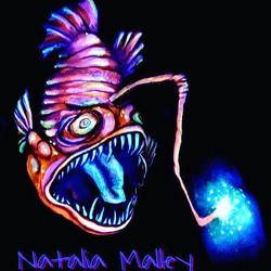 UV Glow Anglerfish under blacklight