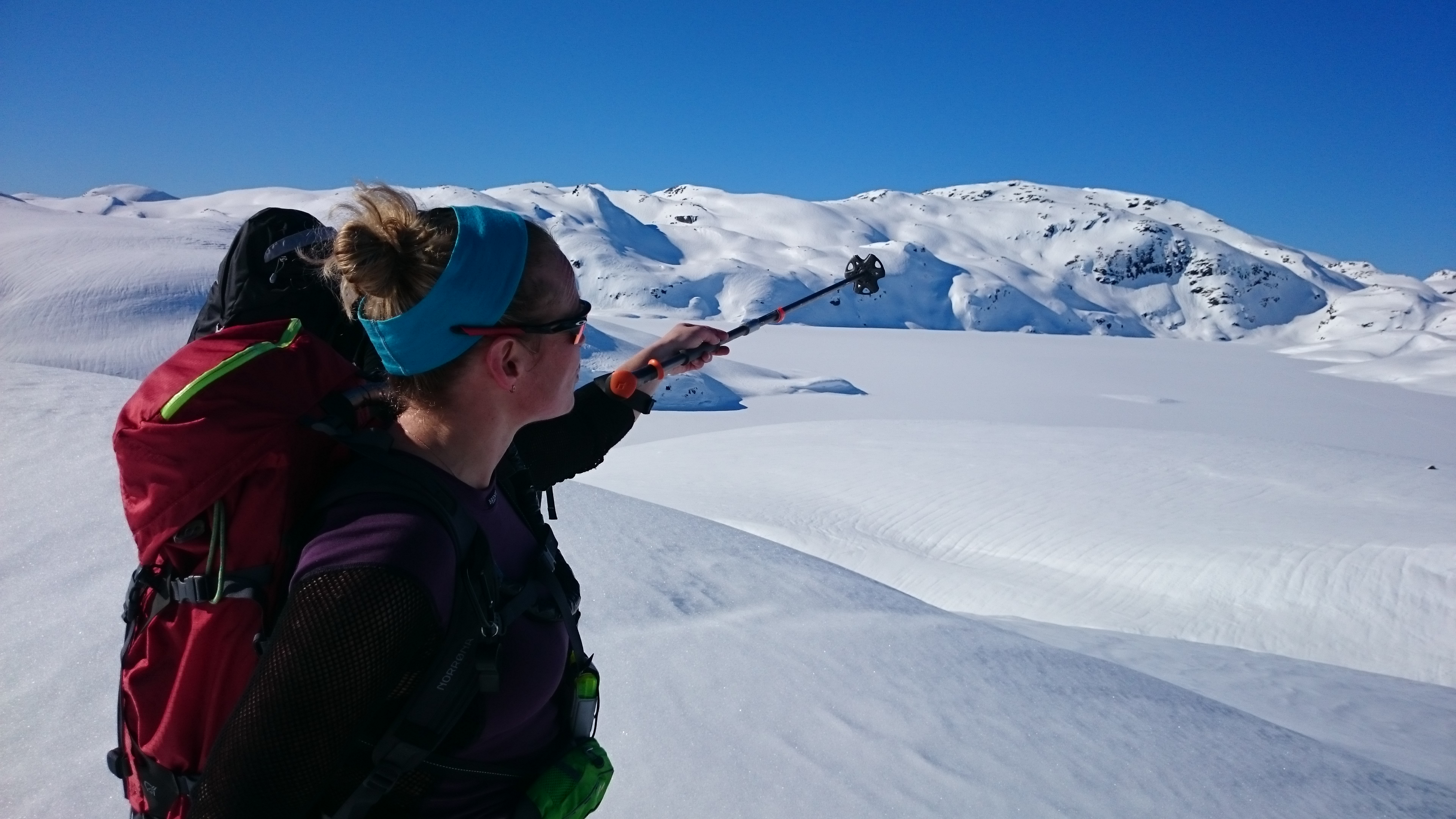 En esquís de crosscoutry a Nansenbu