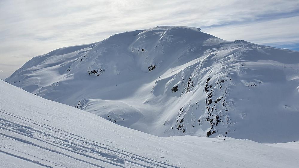 Raundalsryggen på ski. På vei mot Olsskavlen, med utsikt mot Seldalsnuten.