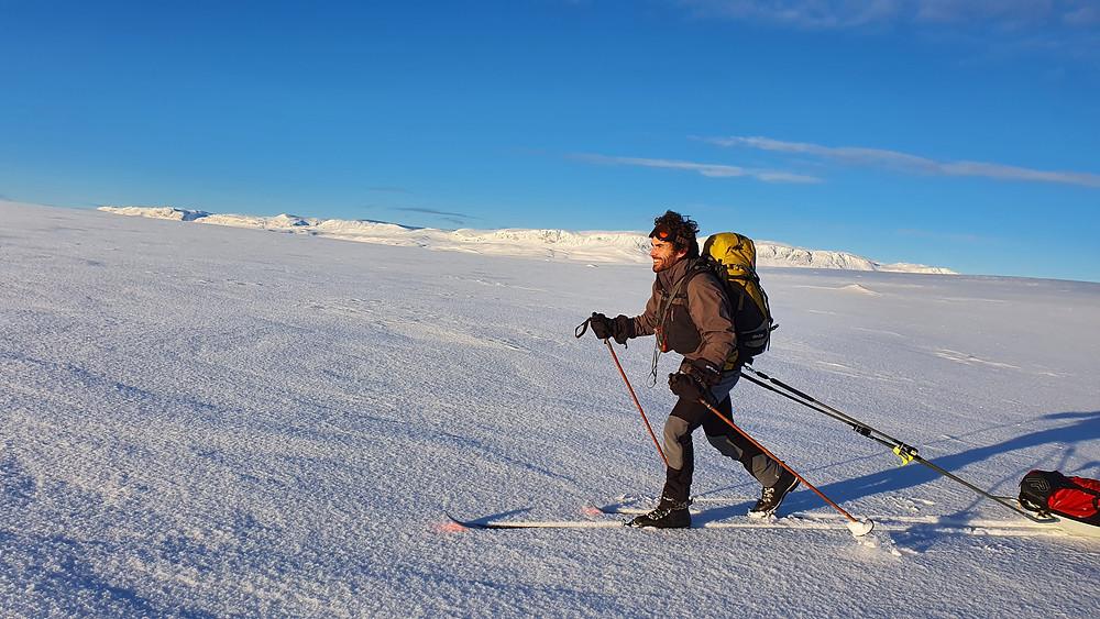 Pulktur på Hardangervidda
