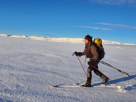 Med telt og pulk på Hardangervidda
