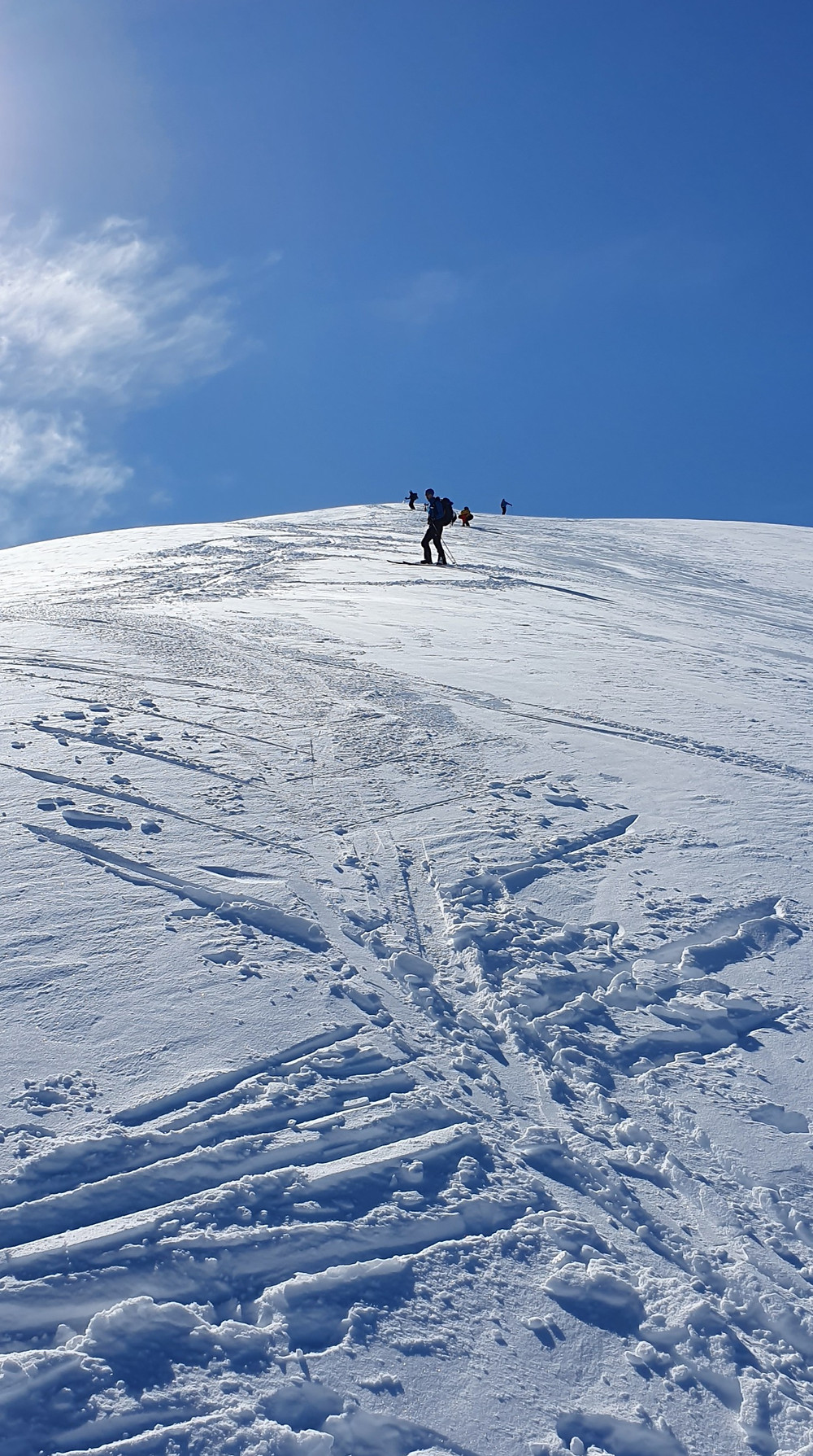 Raundalsryggen på ski. Ned fra 1473-høyden mot Seldalsnuten.