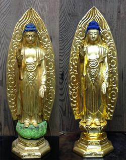 仏像塗替え