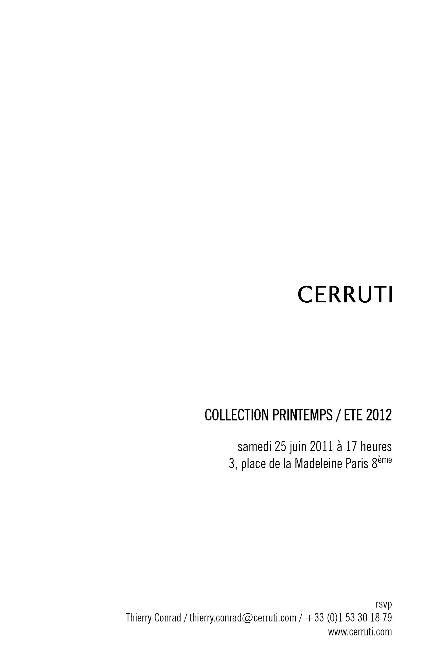 CERRUTI SHOW SS12