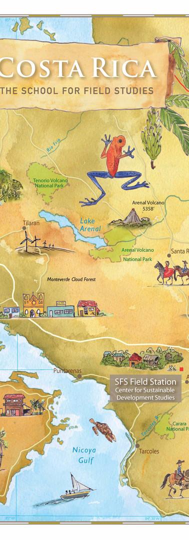 Costa Rica SFS Study Abroad Map