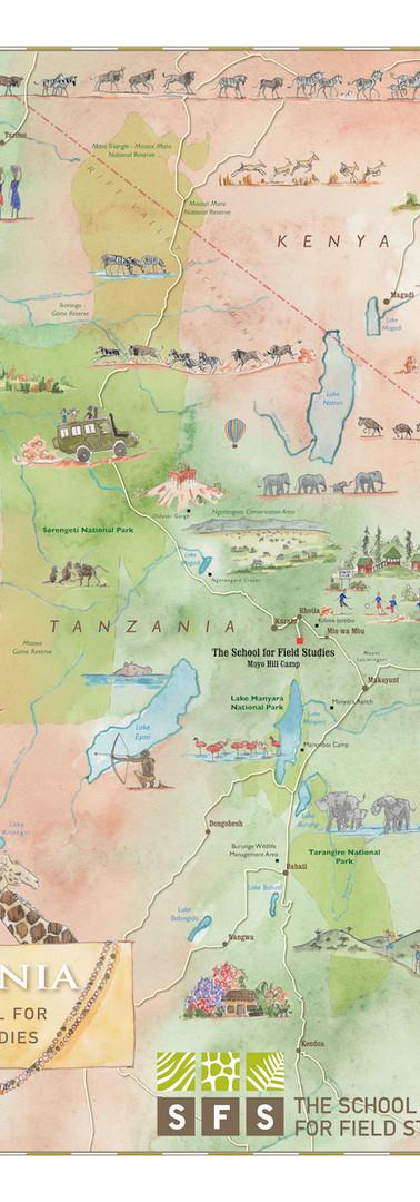 Tanzania SFS Study Abroad Map