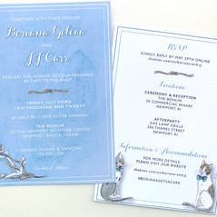 Classic Nautical Wedding Invitations