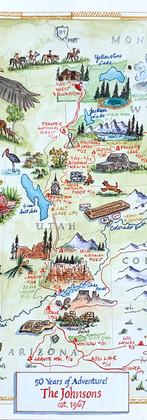 50th Anniversary Adventures Map
