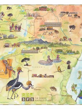 Tanzania & Kenya SFS Study Abroad Map
