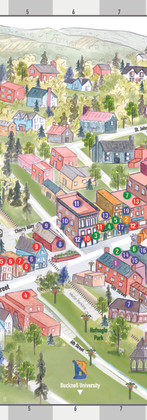 Downtown Lewisburg Map