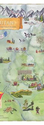 Bhutan SFS Study Abroad Map