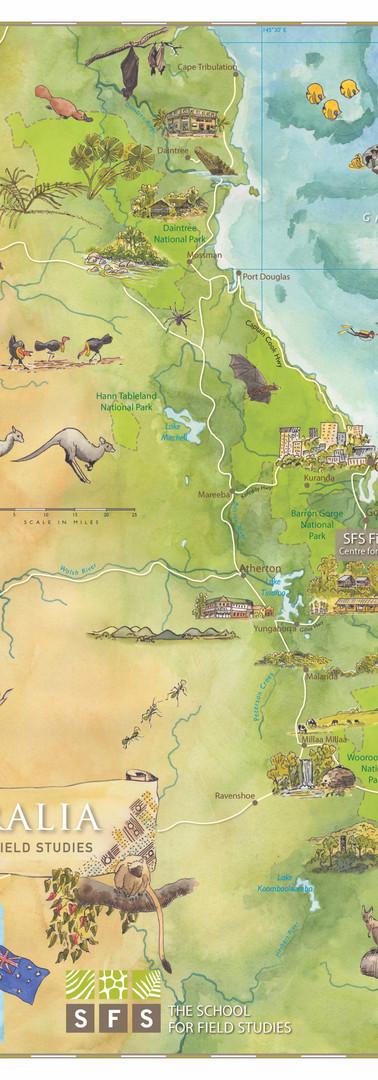 Australia SFS Study Abroad Map