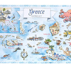 Summer in Greece Map