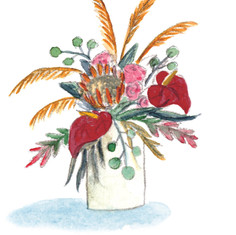 Floral Greetings: Tropical Fun