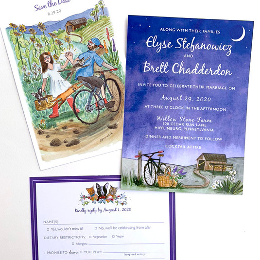 A Fun Countryside Wedding Invitation Suite