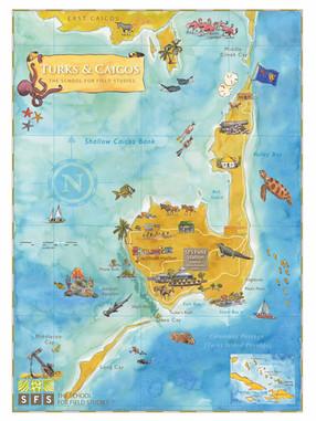 Turks & Caicos SFS Study Abroad Map