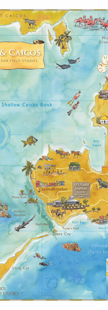 Turks & Caicos SFS Study Abroad Map
