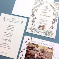 Crow Bear Wedding Invitaiton Suite