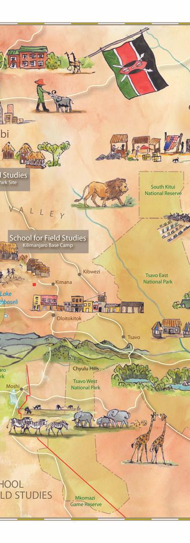 Kenya SFS Study Abroad Map
