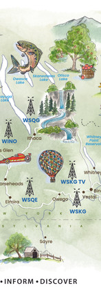 WSKG  Listening Area Map. 2021. Digital illustration. Commissioned and used by WSKG Public Media.