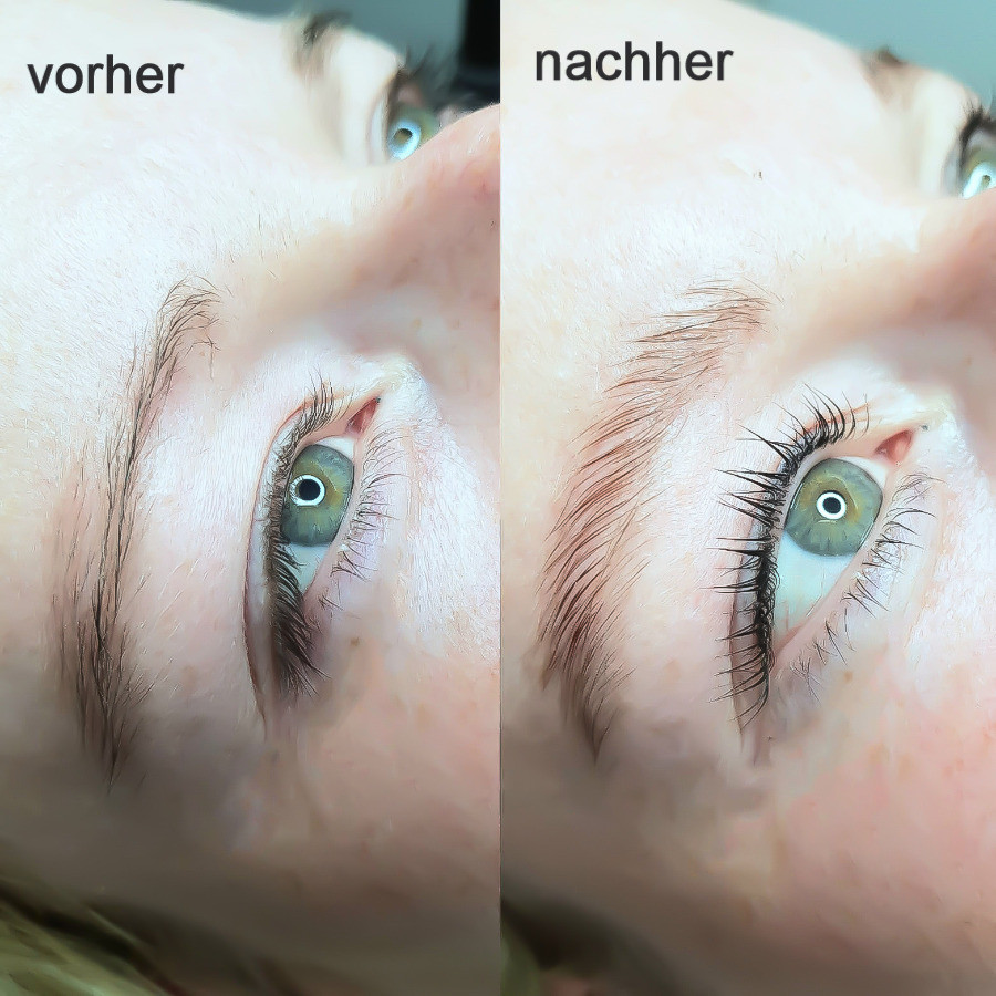 Wimpernlifting und Browlifting